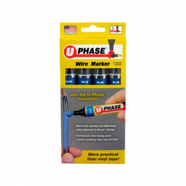 U Phase Marker - Blue (4 Pack)