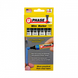 U Phase Marker - White (4 Pack)