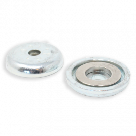 Mag Daddy 26 lb. Magnet Mount 5mm Hole - Silver (Qty 10)